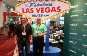 Todd Noordyk and Luke Noordyk at National Association of Broadcasters Show in Las Vegas
