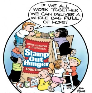 "The NALC ""Stamp Out Hunger"" food drive."