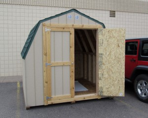 This shed is designed to fit in a smaller back yard yet still provide ample space.