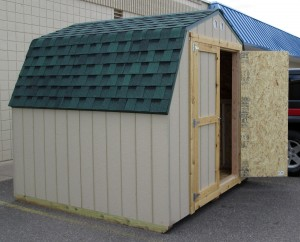 Get an 8' by 8' gambrel storage shed at the best price - UPBargains.com