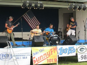 July Competition Winner, The Beats Working Band performing at Country Showdown in Marquette, MI 2015
