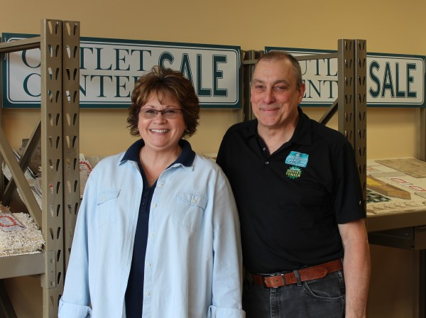 Connie and Frank from Carpet One Outlet Store in Marquette