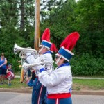 The Blue Notes during the Pioneer Days Parade in Negaunee, MI 2015