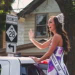 Miss Upper Peninsula during the Pioneer Days Parade, Negaunee, MI 2015