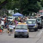 The Great Lakes Radio Caravan in the Pioneer Days Parade 2015