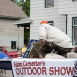 Adam Carpenter and GLR in the Pioneer Days Parade, Negaunee, MI 2015