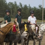 Horse show jumping winners at the Marquette County Fair 2015