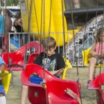 About to ride the swing ride at the Marquette County Fair 2015