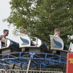 Roller coaster at the Marquette County Fair 2015