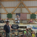 The livestock auction in the Marquette County Fair 2015