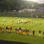 Negaunee Miners Football (54) - Manistique Emeralds (0) - 8-28-15