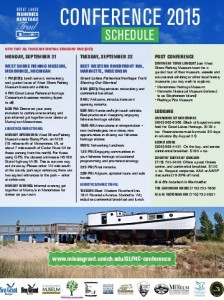 Schedule for the Great Lakes Fisheries Heritage Trail September 21-22 2015