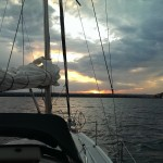 Great Lakes Sailing Superior Sunset Sail Boat Presque Isle Marina State Park