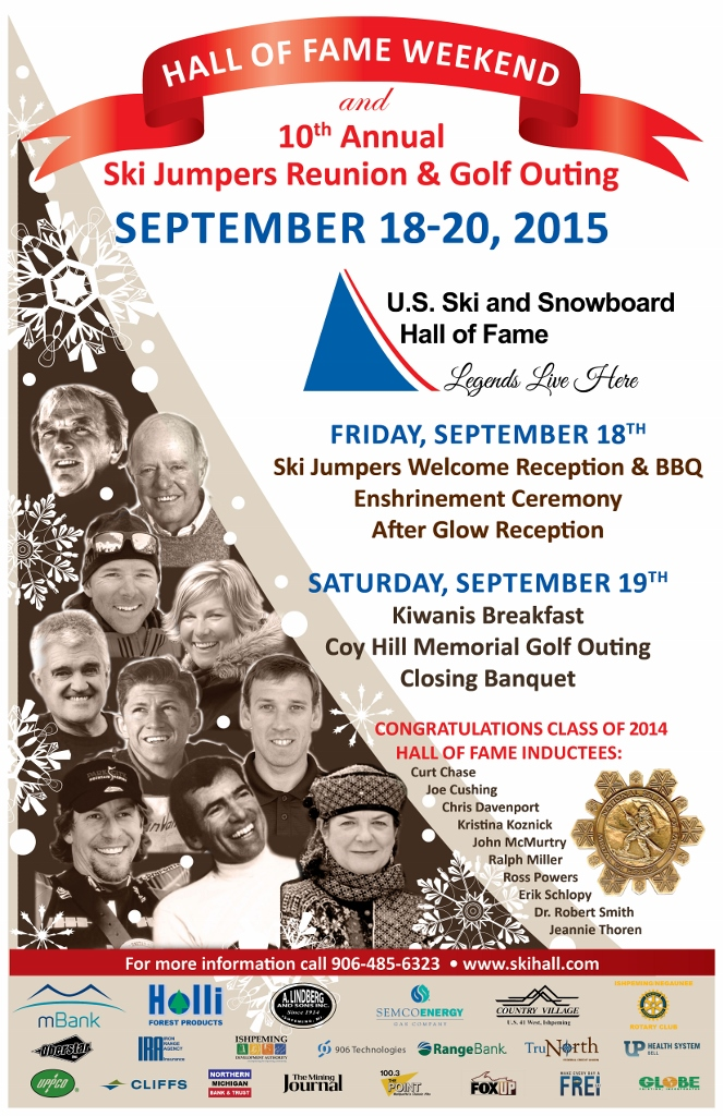Hall of Fame Weekend Poster from the National Ski Hall of Fame in Ishpeming MI