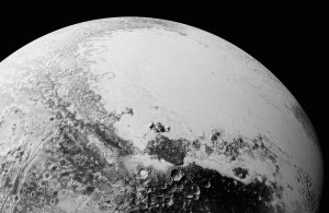 Pluto's surface.