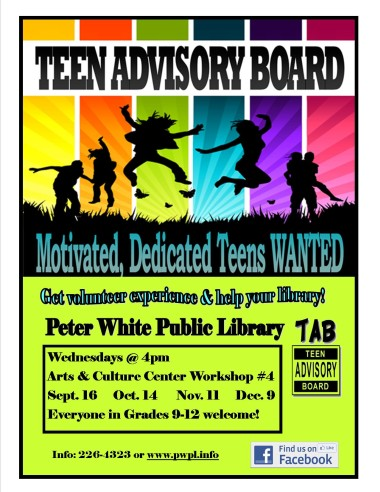 Teen Advisory Board with the Peter White Public Library