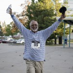 This gentleman finishing out the last of the Stride for Education 5K