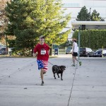 the Stride for Education 5K was dog friendly too!