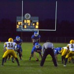 Negaunee playing defense to keep Ishpeming out of their endzone