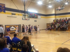 The Negaunee Miners Boys Basketball team vs Kingsford Flivers 12/15/15