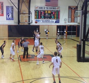 Negaunee Miners Boys Basketball VS Escanaba Eskimos 01/07/16 on Sunny.FM.