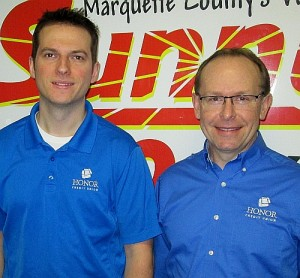 Adam Carpenter & Terry Garceau of HONOR Credit Union.