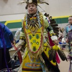 The lead male dancer for today's Powwow