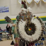 One of the many headdresses and back pieces seen at the event.