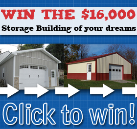 Enter to win the Build the Storage Building of Your Dreams Giveaway