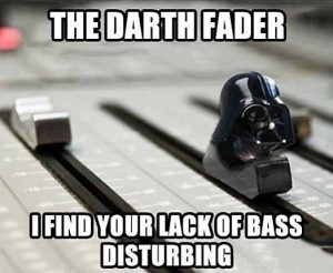 Darth Vader Fader All About the Bass Star Wars