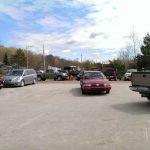 The parking lot shows that we had a great turn out today at Ward's