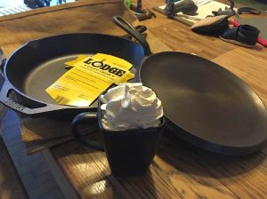 Season Cast Iron Pan Skillet Griddle Mothers Day Present