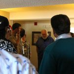 Celebrities Listen to story of Beacon House Guests
