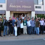 Celebrity Group Photo in Front of the Beacon House