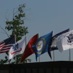 Numerous Military Flags on The Wall