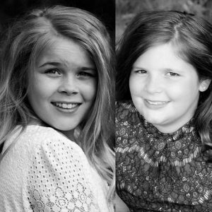 Maddie on left and Kenzie on the right