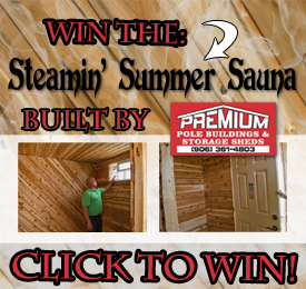 Enter to win the Steamin' Summer Sauna Giveaway