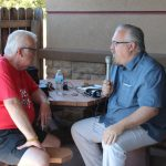 Walt Lindala interviews Paul Makela of the UP Honor Flight Organization