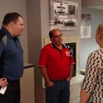 Honor Credit Union branch managers chatting with Scott Knauf