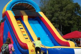 Inflatable Slide at Marquette Township Catch The Vision Community Day at Lions Field
