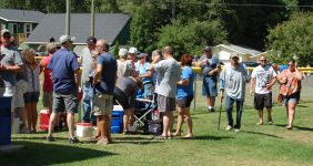 People Arrived All Day for the 6th Annual Catch The Vision Community Day in Marquette Township