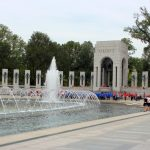 All of the veterans and guardians at the WWII memorial