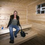 Pam Paris Loving Her New Steamin' Summer Sauna By Great Lakes Radio and Premium Pole Buildings and Sheds