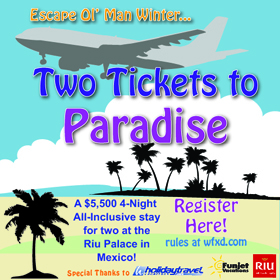 Two Tickets To Paradise By Great Lakes Radio and Holiday Travel Vacations