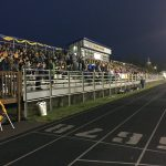 The stands were packed