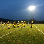 The Negaunee Miners warming up for the game