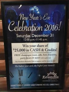 Join Kewadin Christmas Casino for their End of 2016 Celebration!