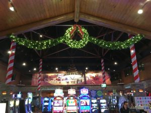 They did a great job making the casino look festive for the holiday season.