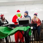 The grinch made it all the way on stage with his plan to steal Christmas.