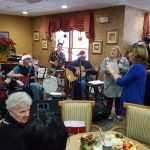 There was great live music at the Christmas party